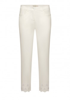 Embroidered Skinny Trousers white