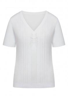 Летний вязаный джемпер цвет белый