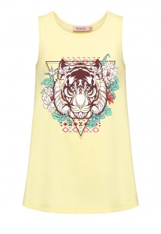 Girls Printed Tank Top yellow