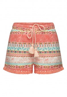 Girls PrintedFringed Shorts