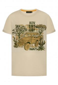 Boys Printed Tshirt light beige