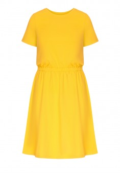 Dress bright yellow