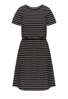 Striped Dress black