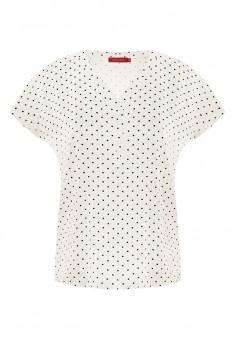 Блузка в горошек цвет белый