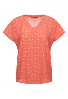 Polka Dot Blouse peach