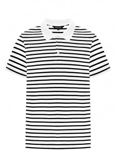 Mens Striped Polo Shirt white