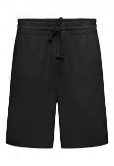 068M3401 Trikotāžas šorti vīrietim melnā krāsā