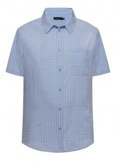 Рубашка в клетку для мужчины цвет голубой