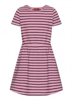 Трикотажное платье с коротким рукавом для девочки цвет розовый