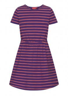 Трикотажное платье с коротким рукавом для девочки цвет фиолетовый