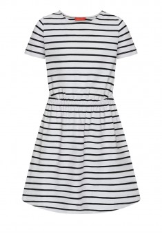 Girls Striped Dress white