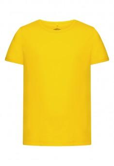 Футболка для девочки цвет яркожелтый