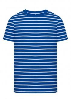 Boys Striped Tshirt bright blue