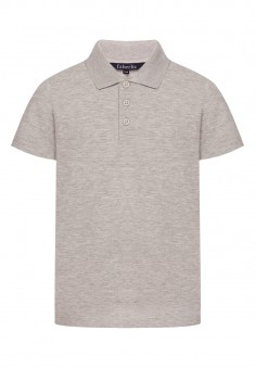 Boys Polo Shirt light grey melange