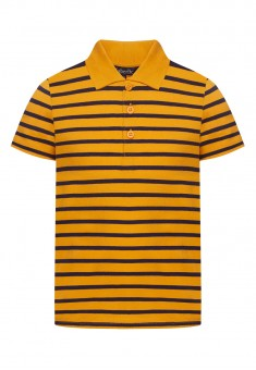 Boys Striped Polo Shirt orange