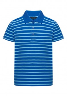 Boys Striped Polo shirt bright blue
