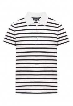 Boys Striped Polo Shirt white