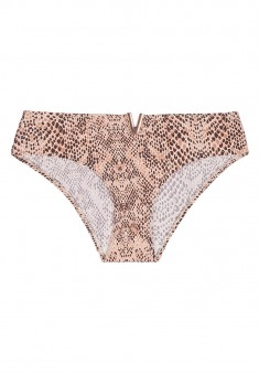 High Waist Briefs python print