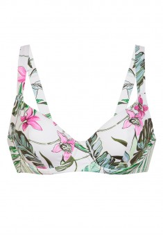 Soft Underwired Bra tropic print