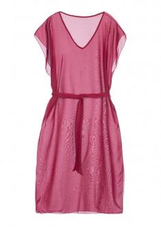 Długa sukienka plażowa kolor malinowy