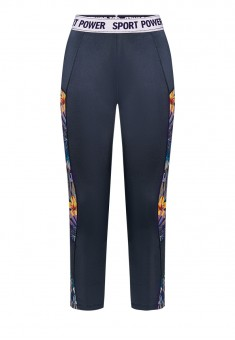 Short Training Leggings printed blue