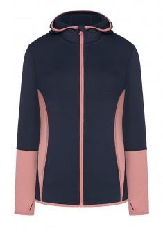 Куртка спортивная с капюшоном синяя
