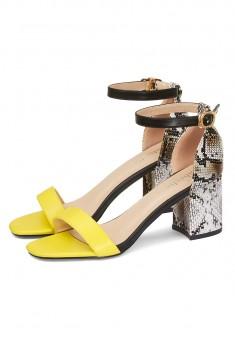 Туфли открытые Snake цвет лимонный