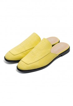 Mule Slippers lemon
