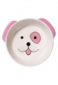 Миска для собаки розовая