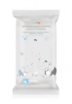 Детские влажные салфетки с экстрактом календулы пантенолом и витамином Е серии EXPERT PHARMA Baby5
