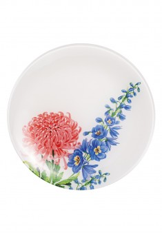 Flower Collection Glass Plate  20 cm