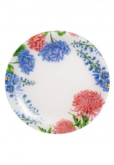 Stikla šķīvis Ziedu kolekcija diametrs 30 cm