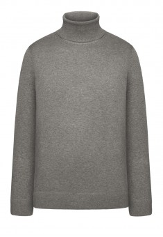 Mens Knit Jumper grey melange