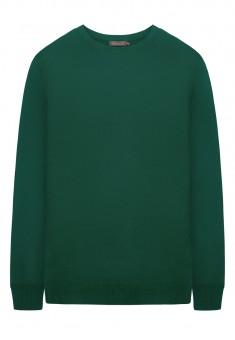 Вязаный джемпер для мужчины цвет темнозеленый