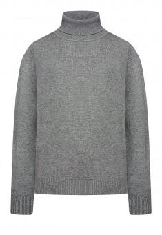 Adīts džemperis zēnam pelēkas melanžas krāsā