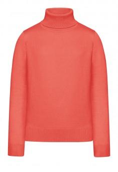 Вязаний джемпер для дівчинки колір персиковорожевий