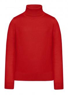 Вязаний джемпер для дівчинки колір червоний