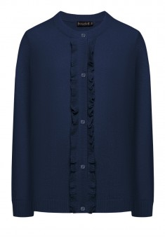 Girls Ruched Knit Cardigan dark blue