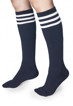 Knee socks blue one size