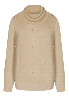 Džemperis ar lureksu bēšā krāsā