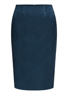 Jacquard Skirt dark blue