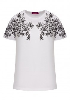 Tshirt with Lace Pattern white