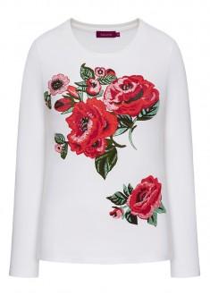 FloralPatterned Tshirt white