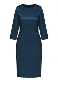 Jacquard Dress dark blue
