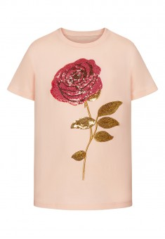 Girls Tshirt peach pink
