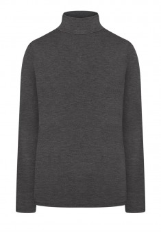 Turtleneck grey melange