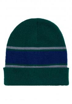 Sporta cepure zaļās un tumši zilās krāsas kombinācija