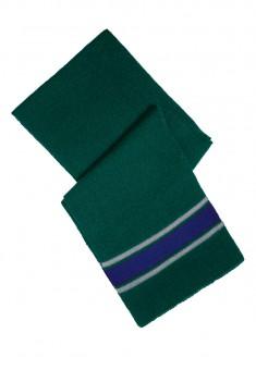 Šalle zaļās un zilās krāsas kombinācija