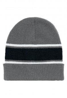 Sporta cepure pelēkās un melnās krāsas kombinācija