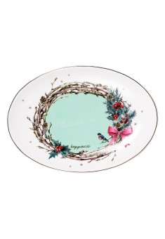 Happiness Oval Serving Dish